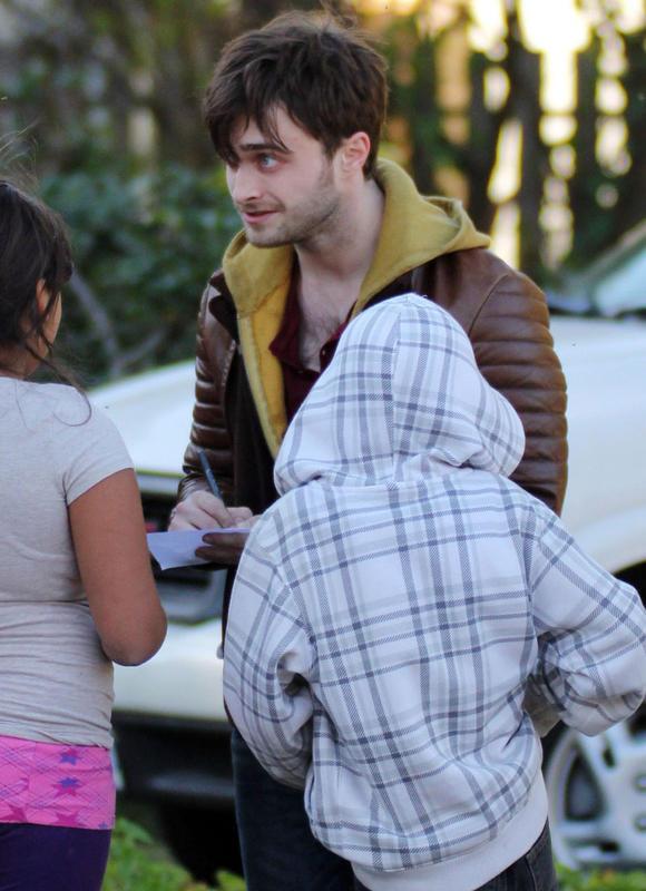 """Daniel Radcliffe on """"Horns"""" Set-02/10/2012"""