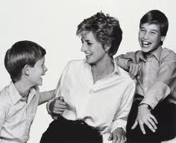 Diana With Her Sons, William And Harry