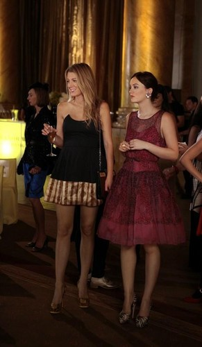 "Gossip Girl wallpaper probably containing bare legs, hosiery, and a cocktail dress entitled EPISODE STILL 6X03 ""Dirty Rotten Scandals"""