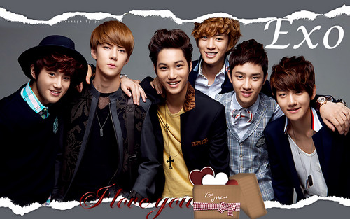 EXO-K wallpaper probably containing a sign titled EXO-K