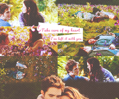 Twilight Series wallpaper entitled Edward and Bella in their meadow