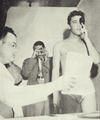 Elvis undergoing a physical at Kennedy Veterans Hospital, for his induction into the U.S Army, March