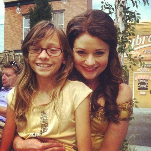 Emilie and a little girl!