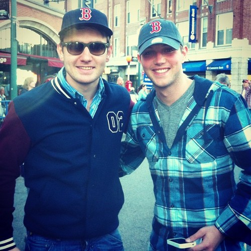 Emmet & Colm at the Red Sox game