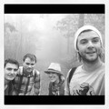 Emmet, Dave, Laura and Keith hiking in the West Virginia fog - emmet-cahill photo