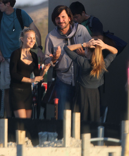 Filming with azevinho, holly Hunter in Austin, TX For an Untitled Terrence Mallick Project (October 3rd 2012)