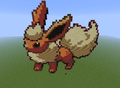 Flareon - minecraft-pixel-art fan art