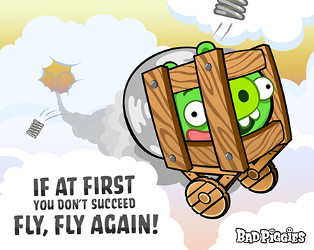 Angry Birds wallpaper probably containing anime called Fly Fly Again!