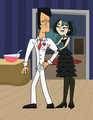 Formal Gwen and Trent - total-drama-island fan art