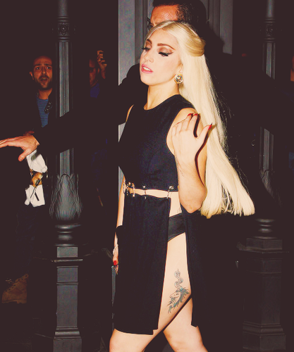 Gaga in Milan