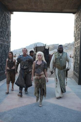 Doreah, Jorah, Daenerys & Xaro