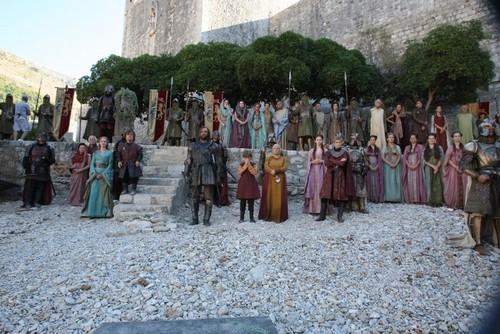 Cersei, Tyrion, Sandor, Tommen, Sansa & Joffrey
