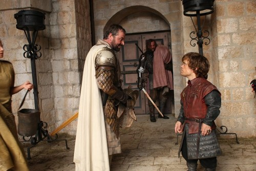 Tyrion Lannister & Meryn Trant