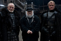 James Cosmo, George R.R. Martin, and Owen Teale - game-of-thrones photo