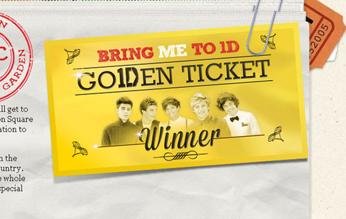 """Go1Den Ticket from new """"Bring ME to 1D"""" competition"""