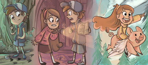 Gravity Falls achtergrond with anime titled Gravity falls art