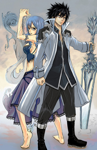 Gray and Juvia as cover for chapter 283