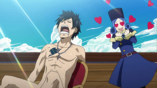 Gray-sama naked body is what's hot for Juvia