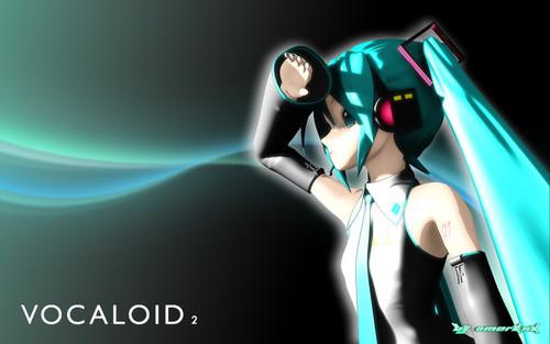 Hatsune Miku Vocaloid hình nền