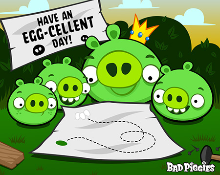 Angry Birds wallpaper with anime entitled Have An Egg-Cellent Day!