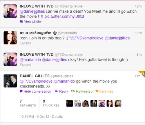 He Tweeted Me!