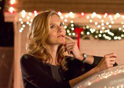 Hilarie Burton on set for her new movie Naughty or Nice
