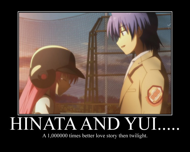 Hinata and Yui     - Angel Beats! Photo (32317345) - Fanpop