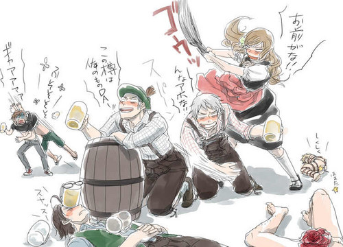 How should Germany celebrate his birthday? Oktoberfest style? XD