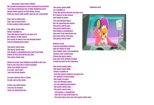 I made lyrics!!!!