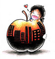 If this town is just an apple... - michael-jackson-funny-moments fan art