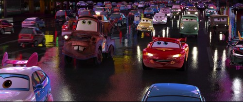 Disney Pixar Cars 2 wallpaper possibly containing a street titled In Japan