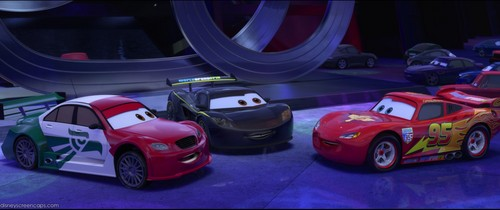 Disney Pixar Cars 2 Hintergrund containing an auto racing and a stock car titled In Japan