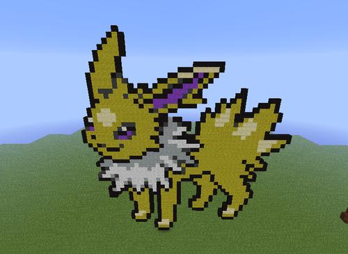 Minecrat Pixel Art! Hintergrund titled Jolteon