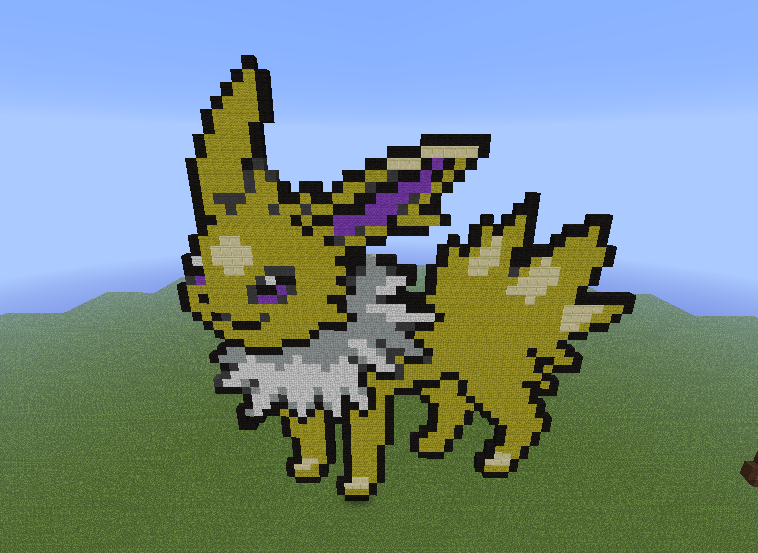 Minecraft Pixel Art Images Jolteon Hd Wallpaper And Background