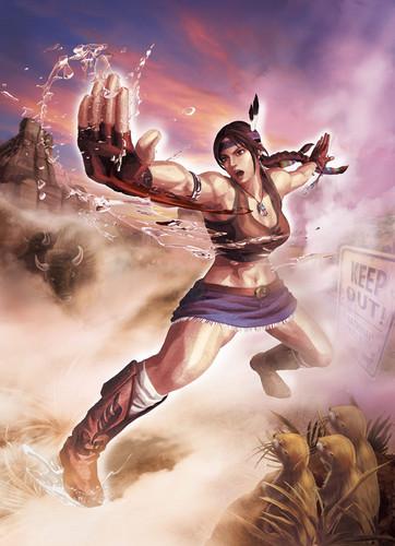 Julia in straat Fighter X Tekken