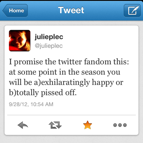 Julie Plec Warns Fans...