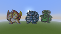 Kanto Trio!!! - minecraft-pixel-art fan art
