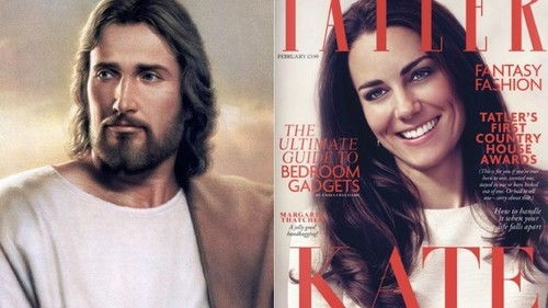 Kate Middleton Appears as Religious প্রতীকী on Mag Cover