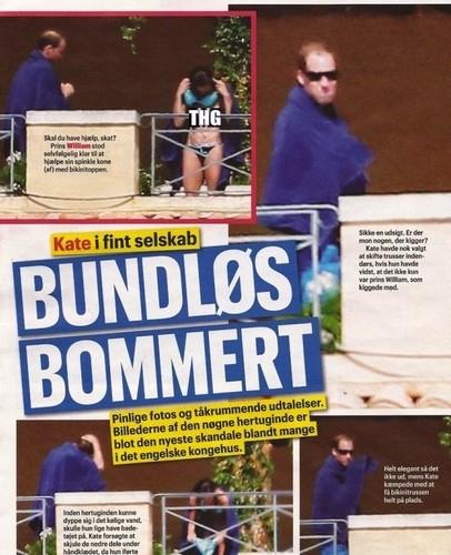 Prinz William Hintergrund called Kate Middleton in Se og Hør Magazine