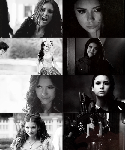 Katherine Pierce and Elena Gilbert wallpaper possibly containing a bouquet and a portrait titled Katherine & Elena
