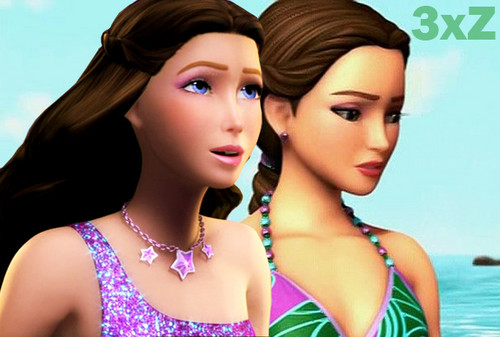 Barbie the Princess and the popstar wallpaper possibly containing a portrait called Keira and her friend, Kylie