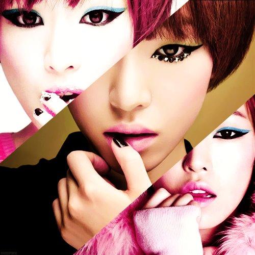 Korean girl band brown eyed girls makeup makeup photo