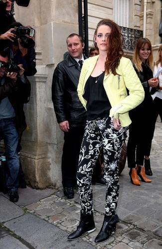 Kristen Stewart at the Balenciaga Show, Paris fashion week, 27 Sept 2012