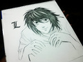 L from death note - death-note fan art