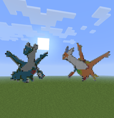 Latias and Latios.