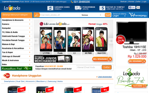Lazada Online Shopping Indonesia
