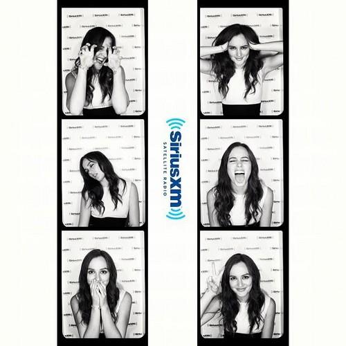 Leighton making cute faces at SiriusXM Radio ♥