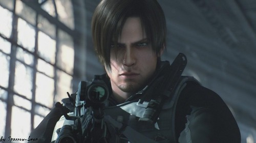 Leon Kennedy 바탕화면 with a rifleman, a navy seal, and a green 베레모, 베 레모 called Leon Hot - RE Damnation