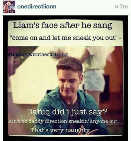 Liams' reaction