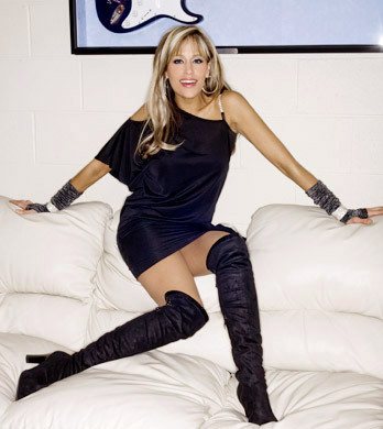 Lilian Garcia wallpaper probably with bare legs, hosiery, and a hip boot entitled Lilian Garcia Photoshoot Flashback